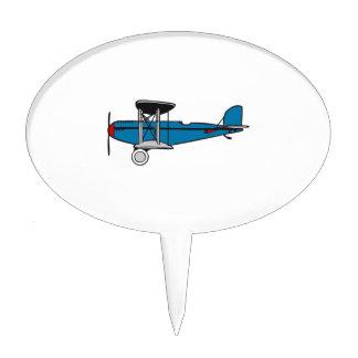 Biplane Airplane Cake Topper