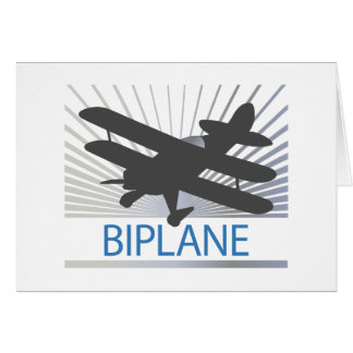 Biplane Airplane Card