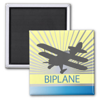 Biplane Airplane Magnet