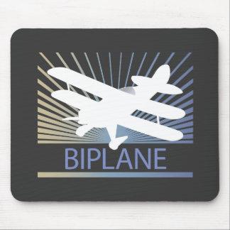 Biplane Airplane Mouse Pad