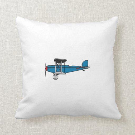 Biplane Airplane Pillow