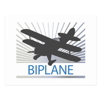 Biplane Airplane Postcard