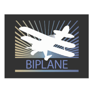Biplane Airplane Postcard