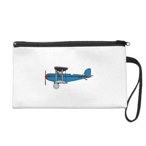 Biplane Airplane Wristlet