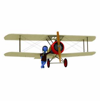 Biplane and Pilot Photo Sculpture Version 2