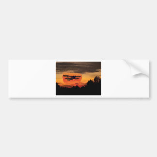 biplane bumper sticker
