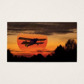 biplane business card