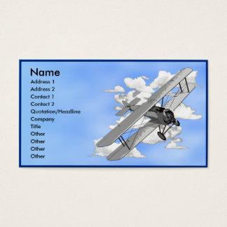 Biplane Business Card Template
