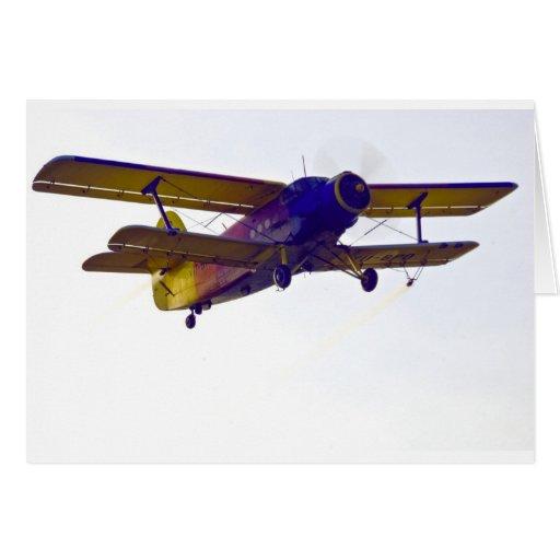 biplane greeting card