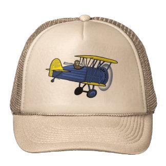 Biplane hat -- blue