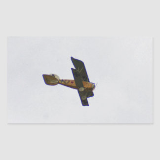 Biplane In Werner Voss Livery Rectangle Stickers