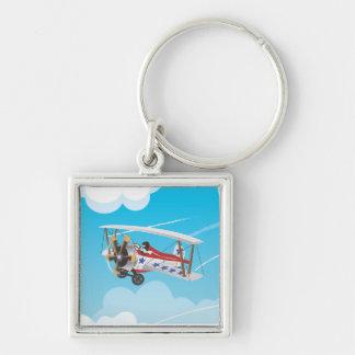 Biplane Keychain