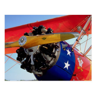 Biplane nose detail Washington State U S A Post Card