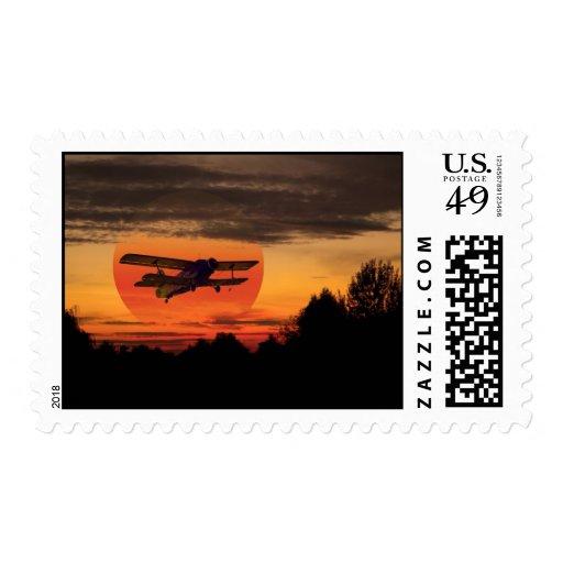 biplane postage stamp