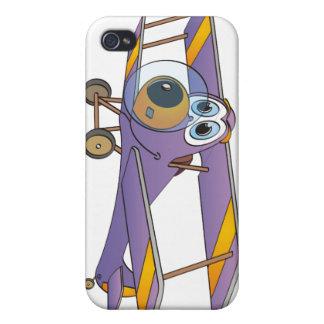 Biplane Purple Cartoon iPhone 4/4S Covers