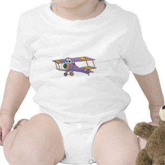 Biplane Purple Cartoon Tee Shirts