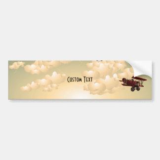 BiPlane s Sepia Bumper Stickers