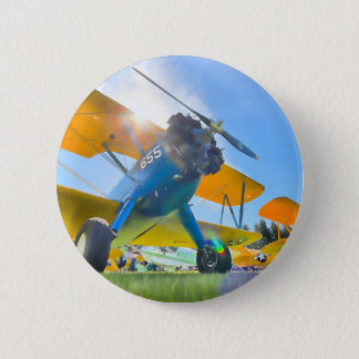 Biplane Sunshine Button
