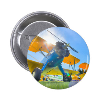 Biplane Sunshine Button