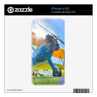 Biplane Sunshine Decals For iPhone 4S