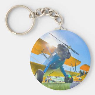 Biplane Sunshine Keychain
