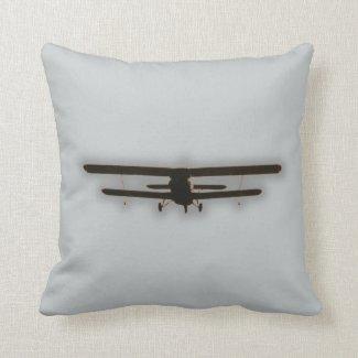 biplane throw pillows