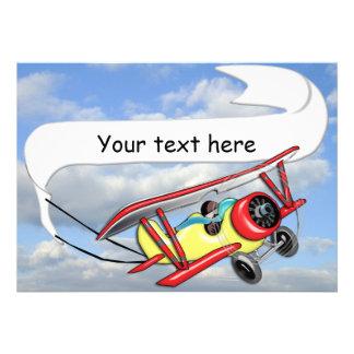 Biplane Towing Banner Customizable Custom Announcements