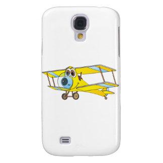 Biplane Yellow Cartoon Samsung Galaxy S4 Case
