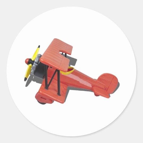 BiPlaneProfile110510 Classic Round Sticker