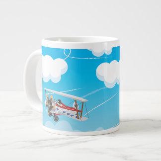 biplanes 20 oz large ceramic coffee mug