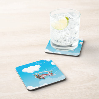 biplanes beverage coaster
