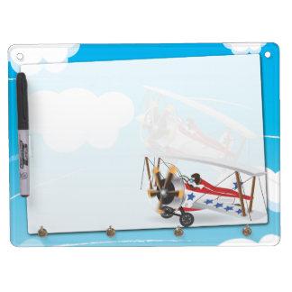 biplanes dry erase board with keychain holder