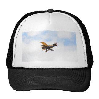 Biplano aeroacrobacia en vuelo gorras de camionero
