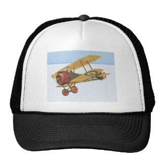 Biplano amarillo gorras