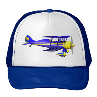 Biplano azul gorra