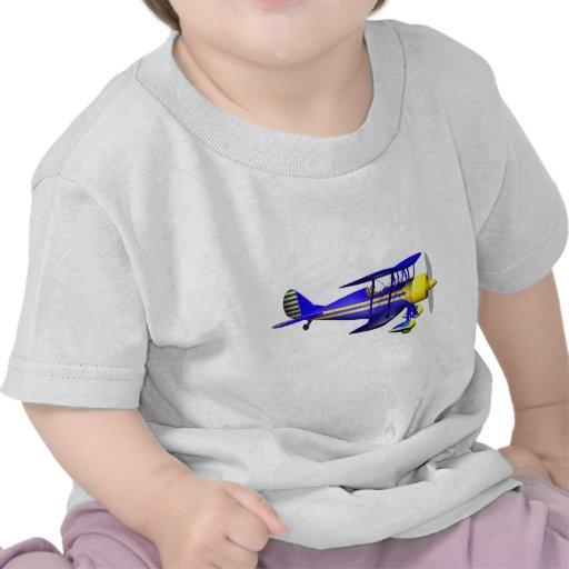 Biplano azul camiseta