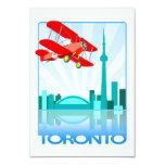 Biplano canadiense sobre el diseño retro de comunicado personalizado