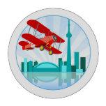 Biplano canadiense sobre el diseño retro de Toront Fichas De Póquer