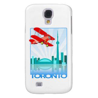 Biplano canadiense sobre el diseño retro de Toront Funda Para Galaxy S4