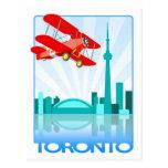 Biplano canadiense sobre el diseño retro de Toront Tarjetas Postales