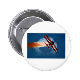 Biplano de Stearman Pin Redondo 5 Cm