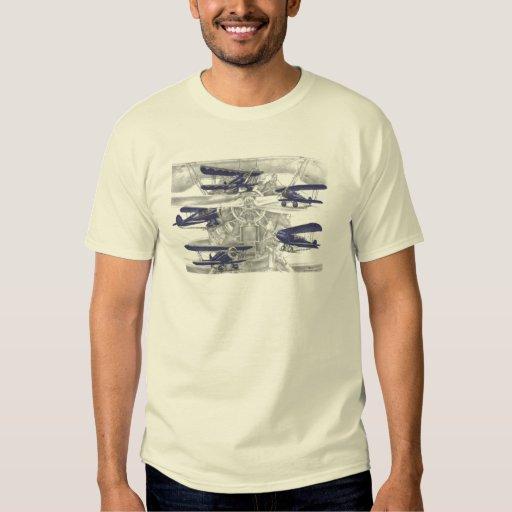Biplano de Waco Camisas