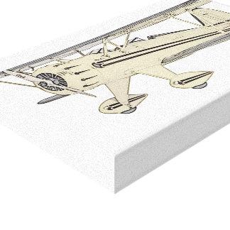 Biplano de Waco Impresión En Lona