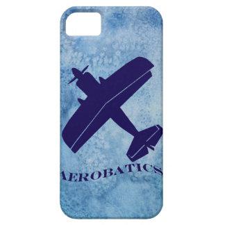 Biplano del azul de las acrobacias aéreas funda para iPhone SE/5/5s