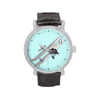 Biplano del vintage relojes de pulsera