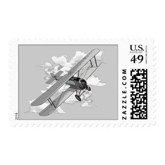 Biplano del vintage sellos