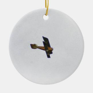 Biplano en la librea de Werner Voss Ornamento De Navidad