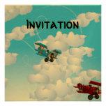 Biplano Invitaciones Personalizada