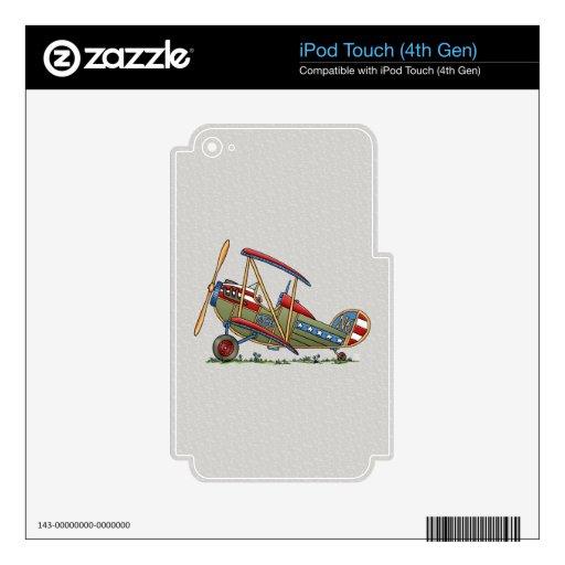 Biplano lindo calcomanía para iPod touch 4G