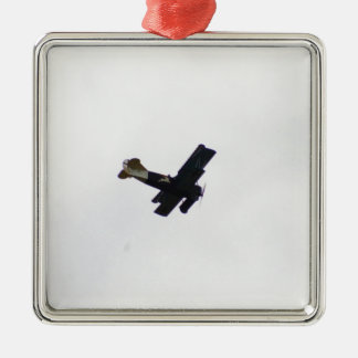 Biplano modelo en vuelo ornamento de navidad
